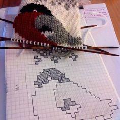 Diy Crafts - Crochet Patterns Slippers So pretty, creative & sweet! Animal Knitting Patterns, Knitting Charts, Crochet Patterns, Intarsia Knitting, Knitting Socks, Baby Knitting, Diy Crafts Crochet, Yarn Crafts, Punto Fair Isle