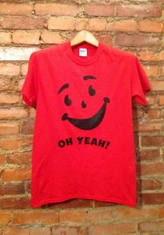 Kool Aid Face Oh Yeah Cherry T-shirt Unisex Red/Multiple Colors available