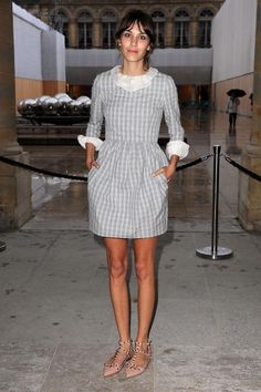 Alexa Chung in the cutest dress!!