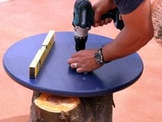 Attach Tabletop to Stump