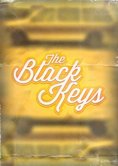 Black Keys Poster. I think we had a caravan like that growing up.
