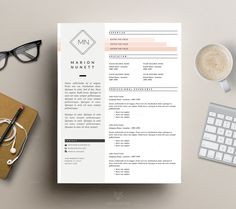 Resume Template _ Simple CV Template + Cover Letter for MS Word _ Creative Resume Design _ 3 Pag Free Cover Letter, Cover Letter For Resume, Cover Letter Template, Letter Templates, Cover Letters, Template Cv, Resume Templates, Design Templates, Web Design