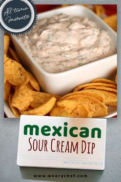 Are you looking for a quick and easy — This crowd-pleasing Mexican sour cream is perfect for last minute guests — It's no complicated layered Mexican dip. All you need is sour cream, salsa, shredded cheese, and a few spices. You'll be ready for Appetizers For A Crowd, Finger Food Appetizers, Yummy Appetizers, Appetizer Recipes, Snack Recipes, Cooking Recipes, Easy Dip Recipes, Mexican Appetizers Easy, Cold Dip Recipes