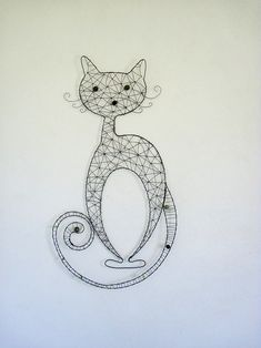 Beautiful wire cat