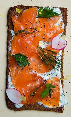 Sandwich of the Week: Open-Faced Smoked Salmon Sandwich