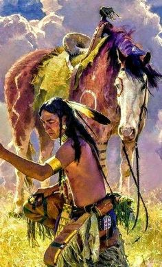 Indian Artwork, Indian Paintings, American Indian Art, Native American Indians, Comanche Moon, People Art, Native Art, Western Art, First Nations