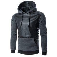 Fashion Men Sweatshirt Retro Long Sleeve Hoodie Hooded Cotton Warm Thick Tops Jacket Coat Outwear