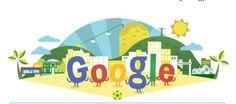 Doodle da Copa do Mundo 2014 deixa Google com a cara do Brasil.