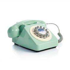 Retro-Telefon, mit Wählscheibe, Retro-Look Vorderansicht