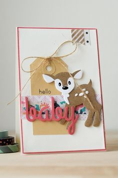 Baby card - Marianne Design, Crate Paper
