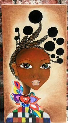 I am The One African Art on Wood by SalkisReArt on Etsy, $320.00