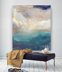 Minimalist scandi pottery, bench and oil painting with navy and copper accents - a . - Minimalist scandi pottery, bench and oil painting with navy and copper accents – a … # - Grand Art Mural, Navy And Copper, Copper Accents, Bachelor Of Fine Arts, St Helena, Contemporary Abstract Art, Modern Art, Modern Dance, Contemporary Artists