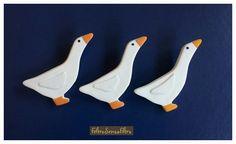 #Polymerclay #Goose #Brooch - #Spilla in #Fimo #Oca