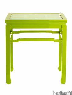 Classic chinoiserie table comes in 5 brilliant lacquer colors.