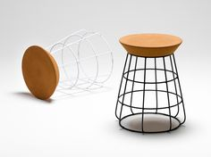 sidekick stool by Timothy John for thanks retail stores - cork meets steel.