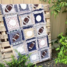 Sports Crib Bedding Baby Comforter Navy /Blue / Gray #sports #nursery #babyshower #gift