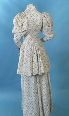 ca 1890s two piece dress