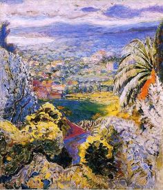 Pierre Bonnard, French painter and printmaker, was a member of the group of artists called the Nabis and afterward a leader of the Intimists; he is generally regarded as one of the greatest colourists of modern art. Pierre Bonnard, Paul Gauguin, Landscape Art, Landscape Paintings, Landscapes, Edouard Vuillard, Impressionist Artists, Illustration, Art For Art Sake