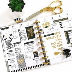 "2,969 Likes, 20 Comments - The Happy Planner® (@the_happy_planner) on Instagram: ""Here is a peek at the black & gold #functionalHappyPlanning weekly layout in the CLASSIC 'This Is…"""