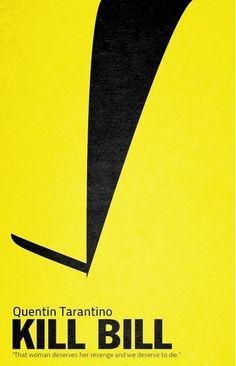 Kill Bill: Vol. 1 (2003) ~ Minimal Movie Poster by Sergio Camalich #amusementphile