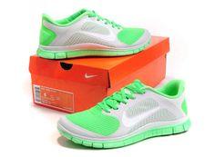 2013 Womens NIKE FREE 4.0 V3 Run+ Fluorescent Gray apple green
