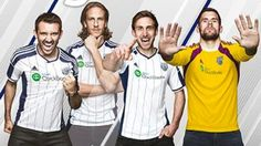 WEST BROM'S new home kit.   www.supersoccersite.com