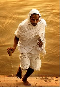 sacred water from the Ganges #seatsofthegoddess