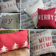 Cozy Red Grey Christmas Throw Pillows A Great And