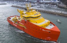 Edda Passat, the first Service Operation Vessel (SOV) built in Spain, commenced sea trials earlier this month, after which the vessel will head to Ørsted's Race Bank offshore wind farm in the UK. Offshore Boats, Offshore Wind, Tug Boats, Motor Boats, Rc Boot, Camper Boat, Military Gear, Water Crafts, Sailing
