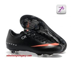 Wholesale Cheap black orange soccer shoes Nike Mercurial Vapor IX FG 2013  cristiano ronaldo Sixth CR exclusive personal Soccer Boots For Sale 3347cd023ebcc