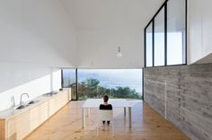 Casa D au Chili par Panorama Arquitectos + WMR Arquitectos - Journal du Design Minimalist Kitchen, Modern Minimalist, Minimalist Design, Commercial Architecture, Interior Architecture, Interior Design, Kitchen Interior, Kitchen Design, Chili