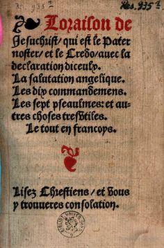 Lorasion de Iesuchrist, qui est le pater noster, et le Credo - 1525