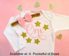 First Birthday Outfit Twinkle Twinkle Star by APocketfulofBows