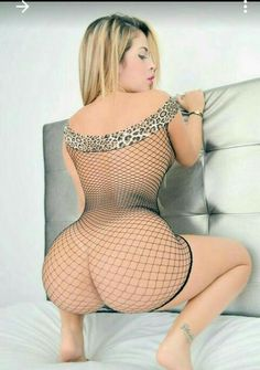 Chubby in green fishnets