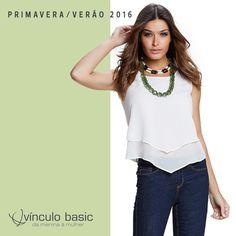 Para baphonizar o look casual com jeans: blusa power diva com pontas e camadas. ❤  http://www.vinculobasic.com.br/ #vinculobasic #primavera #verao