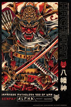 Dragon Tattoo Art, God Tattoos, Samurai Warrior, God Of War, Dark Fantasy Art, Back Tattoo, Japanese Art, Sleeve Tattoos, Character Art