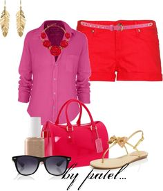 """red and pink is fashion love......"" by anabelenalons on Polyvore"