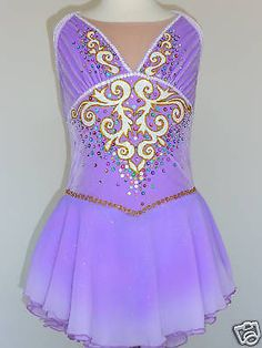 BEAUTIFUL AND LOVELY ICE SKATING DRESS, CUSTOM MADE TO FIT
