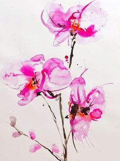 Orchids 1  On exhibit Feb. 22-March 10, at the Bankside Gallery, London, UK.  600BP...tattoo inspirations