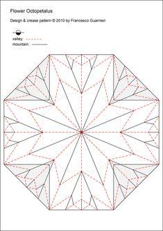 "https://flic.kr/p/9Dgeyz | Flower Octopetalus  (Crease Pattern) | Designed by Francesco Guarnieri, September 2010.  Photo model:   <a href=""http://flic.kr/p/9DfcYb"" rel=""nofollow"">flic.kr/p/9DfcYb</a>  <a href=""http://flic.kr/p/9Dchwc"" rel=""nofollow"">flic.kr/p/9Dchwc</a>"