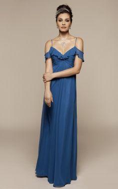 Unique Ankle-length Spaghetti Straps Short Sleeve Chiffon A-line Wedding Party Dresses