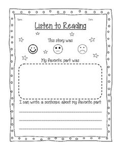 Daily 5- Listen to Reading response forms