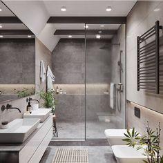 20 Most Beautiful Bathroom Design With Modern Bathtub Ideas - Badezimmer Modern Bathtub, Modern Bathroom Design, Bathroom Interior Design, Modern Bathrooms, Master Bathrooms, Bath Design, Modern Vanity, Modern Shower, Modern Bathroom Vanities