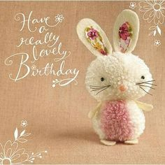 "Bunny ""Tiddly pom pom"" by Eleri Fowler for Paper Rose greeting card"