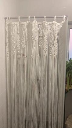 Tapestry Curtains, Crochet Curtains, Boho Curtains, Beaded Curtains, Macrame Art, Macrame Design, Cortinas Boho, Macrame Curtain, Curtain Patterns