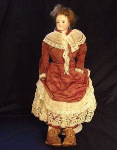 """17"""" Very Beautiful Antique French Fashion Doll FG Paupee by Francois Gaultier"""