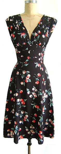 Trashy Diva 1940's style cherry print day dress