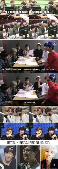VKook. Hahaha Jimin's face at the end xD