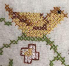 "Stamped Cross Stitch Blessing Sampler Finished Prayer 16""  x 18.5"" Unframed"