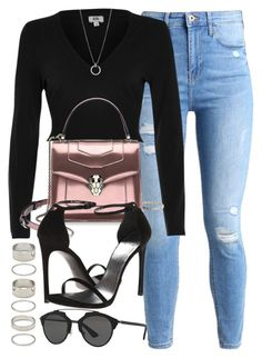 """""""#14693"""" by vany-alvarado ❤ liked on Polyvore featuring River Island, Bulgari, Stuart Weitzman, Forever 21, Christian Dior and FOSSIL"""